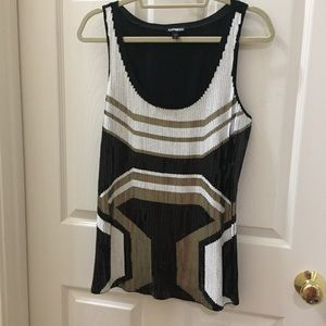 Express Sequin Tank Top Large